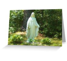 Statue of Mary Greeting Card