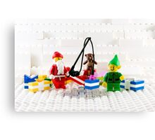 Santa Fishing for Gifts Canvas Print
