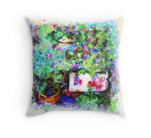 Ros Garden Throw Pillow