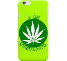 I AM VEGETARIAN  iPhone Case/Skin