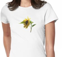 Backlit Sunflower Womens Fitted T-Shirt