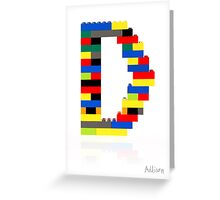 """D"" Greeting Card"