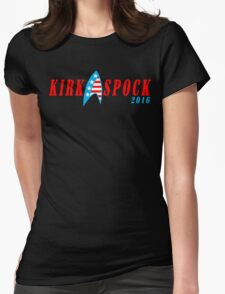 Kirk spock 2016 Funny Geek Nerd Womens Fitted T-Shirt