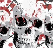 Barbed Skulls Sticker