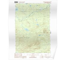 Maine USGS Historical Map Boundary Bald Mountain 104948 1989 24000 Poster