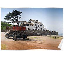 Burgh Island Sea Passenger Transporter: Bigbury Devon UK Poster