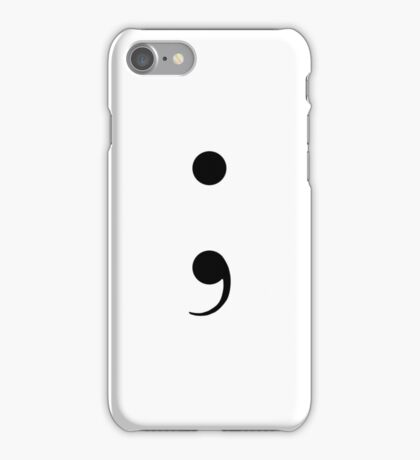 Simplistic Semicolon iPhone Case/Skin
