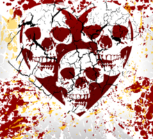 Heart Skulls Sticker