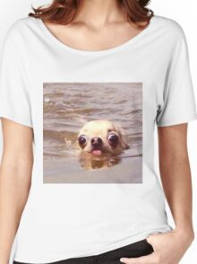 Swimming dog Women's Relaxed Fit T-Shirt