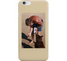 3 Nick & his Rescue Dog Rosie a Kelpie-Border Collie  iPhone Case/Skin