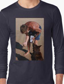 3 Nick & his Rescue Dog Rosie a Kelpie-Border Collie  T-Shirt