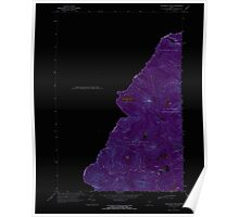 Maine USGS Historical Map Boundary Pond 104949 1970 24000 Inversion Poster