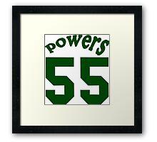 powers 55 Funny Geek Nerd Framed Print
