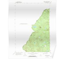 Maine USGS Historical Map Boundary Pond 104949 1970 24000 Poster