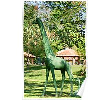 The Leafy Green Girafe Poster