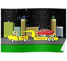 Delivery Toon Truck Poster