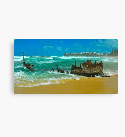 SS Dicky Wreck Canvas Print