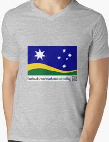 Southern Horizon - The New Australian Flag (With QR Code) Mens V-Neck T-Shirt