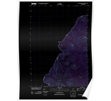 Maine USGS Historical Map Boundary Pond 20110909 TM Inversion Poster
