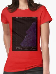 Maine USGS Historical Map Boundary Pond 20110909 TM Inversion Womens Fitted T-Shirt