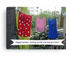Happy Laundry Canvas Print