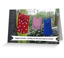 Happy Laundry Greeting Card