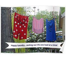 Happy Laundry Poster