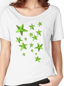 Green Stars Women's Relaxed Fit T-Shirt