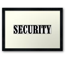 Security Funny Geek Nerd Framed Print