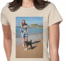 2 Ellie with her Australian Shepherd Womens Fitted T-Shirt