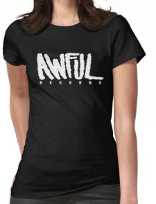 AWFUL Records Womens Fitted T-Shirt