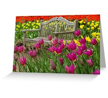 Spring Bench Greeting Card