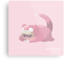 Slowpoke Low Poly Metal Print