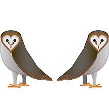 Owl Illustration Art Print Birds by FUNCTIONALFOX