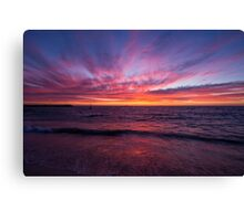 Sunset at Cottlesloe Beach Canvas Print