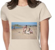 4 Elly with her Poodle-Japanese Spitz & Bichon-Beagle  Womens Fitted T-Shirt