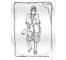 Haku (Uncoloured) Poster