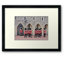 Ceremonial Guards Framed Print