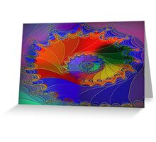A Fractal Web-Available As Art Prints-Mugs,Cases,Duvets,T Shirts,Stickers,etc Greeting Card