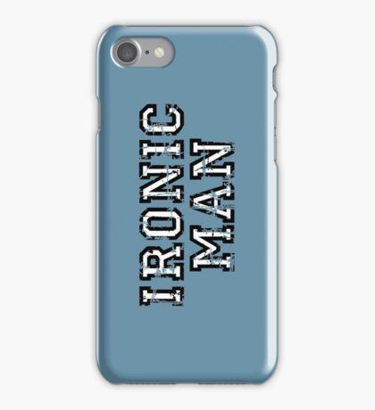 IRONIC MAN Vintage White iPhone Case/Skin