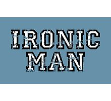 IRONIC MAN Vintage White Photographic Print