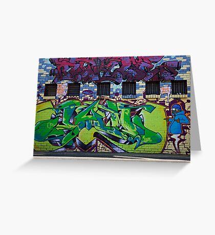 Melbourne Graffiti Greeting Card