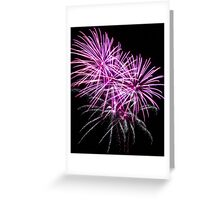 The Art Of Fireworks. Greeting Card