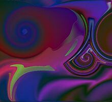 Fractal Spiral-Available As Art Prints-Mugs,Cases,Duvets,T Shirts,Stickers,etc by Robert Burns