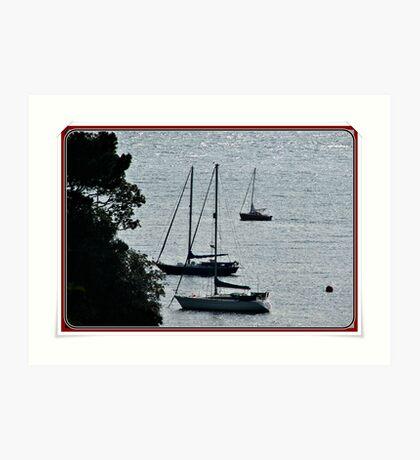 Dusk On the Helford River. Art Print