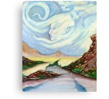 Face In Clouds Canvas Print