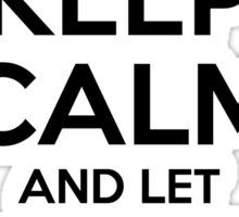 Keep Calm and Let Derrick Handle It Sticker