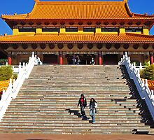 Nan Tien Temples - stairs by Vanessa Pike-Russell