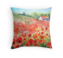 Scarlet Carpet Throw Pillow