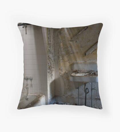 Asylum Sink #1: Male Ward Throw Pillow